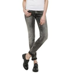 LUZ 437 461 - Super #skinny 5-pocket #jeans with low waist, push-up effect in back. Medium grey wash on power stretch denim, heavy brush treatment along thighs & on whiskers. #REPLAYss15
