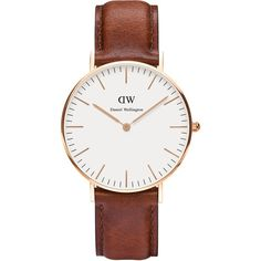 Daniel Wellington Classic St Andrews Lady (49.195 HUF) ❤ liked on Polyvore featuring jewelry, watches, accessories, tan, women, rose gold watches, white dial watches, daniel wellington, rose gold jewelry and red gold jewelry
