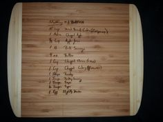Custom engraved cutting board for Cassey from 3dcarving on Etsy.