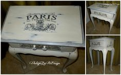 French Shabby Table  hand painted in Old by VintageByReDesign, $139.00