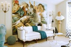 Young designer, Gary Spain from San Francisco, designed an interior in the style of classical antiquity.