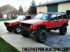 www.cheepjeepin.blogspot.com Cherokee, lifted xj, jeep, long arm lift, roof rack Jeep Xj Mods, Jeep Jeep, Jeep Truck, Lifted Xj, Lifted Trucks, Ford Expedition El, Arm Lift, Old Jeep, Jeep Cherokee Xj