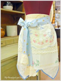 The Empty Nest: apron 4 in A Tale of Four Aprons...Preserving a Grandmother's Love