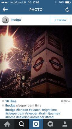 Great night photo of #London #Euston #CaledonianSleeper #England #UK