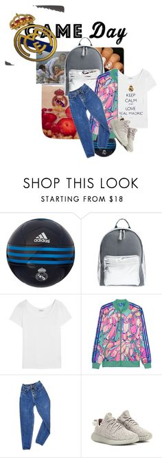 """""""Game Day: Real Madrid"""" by watermelon-chic ❤ liked on Polyvore featuring adidas, Poverty Flats, Yves Saint Laurent, adidas Originals, PèPè, Favorite, realmadrid, sportystyle, sportteam and favoritesportteam"""
