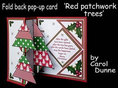 Two modern red and green patchwork trees and a bigger one pops out of the middle. Easy to make and has full photographic instructions in the kit. The verse inside reads;- After the gifts have been opened, after the tree has gone, after the carols have faded , may the happiness linger on. Merry Christmas. Also available in blue and purple cup5807081_173