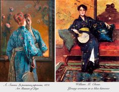 Influence of the Japanese culture in the European fashion (mid of the 19th century)