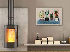 Wat vind je van deze leuke cactusplantjes?  Interieur | Schilderijen | Wonen | Interieurideeen | Interieur woonkamer | Decoratie | Woondecoratie | Schilderij woonkamer | Schilderijen abstract |