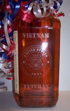 Laser etched bottle - posted on Scrapbook.com    To see other etched bottles visit www.infinity-engr...