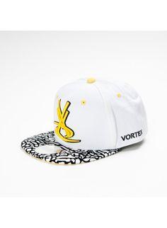Casquette Vortex Bred Blanc/Jaune