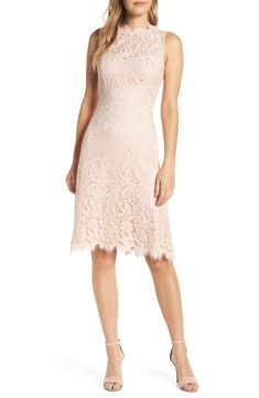 Shop a great selection of Eliza J High Neck Lace Sheath Dress (Regular & Petite). Find new offer and Similar products for Eliza J High Neck Lace Sheath Dress (Regular & Petite). Best Wedding Guest Dresses, Shower Dresses, Lace Sheath Dress, Nordstrom Dresses, Women's Fashion Dresses, Women's Dresses, Fit Flare Dress, Dresses With Sleeves, Cocktail Dresses