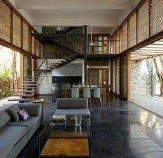 estrich-der fußboden im industrial style für gestaltung moderner Häuser mit schwarzem Estrich als bodenbelag