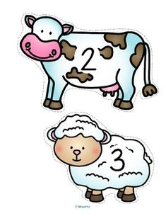 FARM Animals Counting 0-20 for Centers and Group Activities