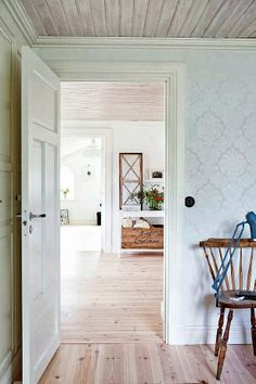 :: Havens South Designs ::  loves this pine floors striped and waxed