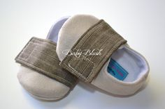 Beige Brown Baby Boy Soft Soled Baby Shoes  by babyblushboutique, $23.00