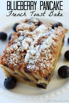 Looking for a great new breakfast recipe?  Check out this sumptuous Blueberry Pancake French Toast Bake!  Pancakes, a French Toast Mixture, Blueberries and a delicious crumble topping.  You could even eat this as dessert, it is that good!   Blueberry Pancake French Toast Bake Ingredients: 18 Frozen Blueberry Pancakes, thawed 5 Eggs 1 cup Milk …