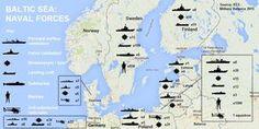 Присутствие военно-морских сил России и стран Европы в Балтийском море.