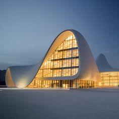 Heydar Aliyev Center designed by Zaha Hadid in 2012