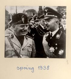Germany, 1938, Heinrich Himmler with Benito Mussolini. - An album of photographs from the life of Adolf Hitler.