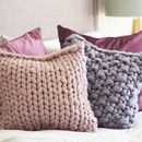 Classic Chunky Knitted Panel Cushion by Lauren Aston Designs, the perfect gift for Explore more unique gifts in our curated marketplace. Knitted Cushions, Grey Cushions, Knitted Throws, Chunky Knit Throw, Moss Stitch, Colour List, Cushion Pads, Own Home, Merino Wool Blanket