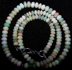 58.30 Ct Red Flashy White Ethiopian Welo Opal Beads 4-6 MM AAA Necklace 16 inch