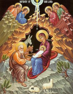 Orthodox Nativity Scene Art Print by Munir Alawi. All prints are professionally printed, packaged, and shipped within 3 - 4 business days. Choose from multiple sizes and hundreds of frame and mat options. Catholic Art, Religious Art, Roman Catholic, Christmas Reflections, Byzantine Icons, Christmas Nativity, Merry Christmas, Sacred Art, Native Art
