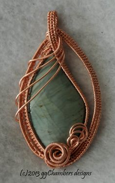 Natural Copper Woven Wire Wrapped Amethyst by ggChambersDesigns, $78.00