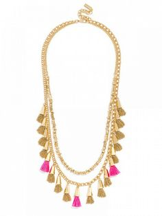 Ale by Alessandra x BaubleBar Festival Tassel Strands Necklace