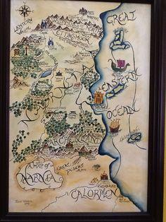 Narnia map Acrylic