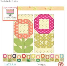 Posies Quilt Block Tutorial