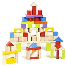Imaginarium 75 Piece Wooden Block Set | Toys R Us Australia