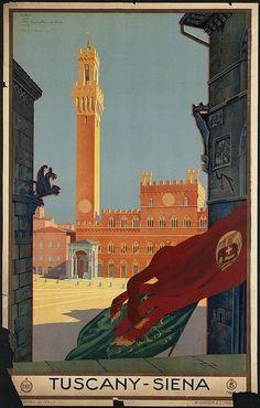 Vintage Italian Posters ~ #illustrator #Italian #posters ~ Siena