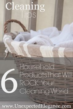6 Household Products that Will ROCK Your Cleaning World!  A few you might have never thought to use!!
