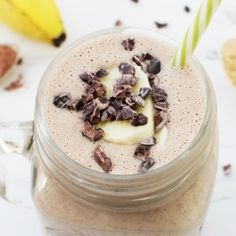 Peanut Butter & Banana Post Workout Smoothie [vegan] [gluten free]