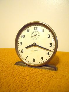 Antique Vintage Wind-Up Westclox Alarm-Clock from Early 1930's $24.00