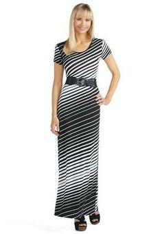 ashley stewart: asymmetrical stripe maxi dress | best dressed