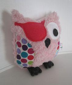 Mini Girl Pirate Owl Plush Softie Stuffed by MiniMaxwellKids, $20.00