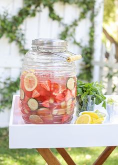 Ready to beat the heat with a refreshing cocktail? Sugar and Charm's Watermelon & Honeydew Sangria Recipe is sure to be a hit at any party!! It's the perfect cocktail for Spring or Summer!