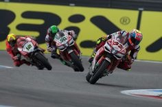 Lorenzo Savadori of Italy and Milwaukee Aprilia leads the field during the race 1 during the FIM World Superbike Championship Assen - Race 1 on April 29, 2017 in Assen, Netherlands.