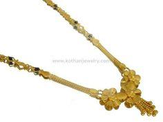 Gold Mangalsutra - Long chain gold mangalsutra - Light weight, 22kt Designer Mangalsutra Pattern, CZ gold Mangalsutra