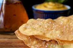 Chili Oil Rubbed Flat Bread Crackers... amazingly addictive cracker brushed with chili infused oil and sprinkled with sea salt