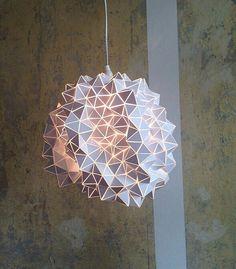 Geodätische hängenden Lichtskulptur von BrittaGould auf Etsy