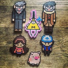 Gravity Falls characters perler beads by ashreap