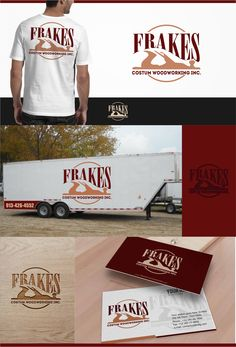Frakes Custom Woodworking Inc Logo and Stationery