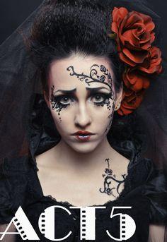 Tim Burton Inspired Makeup-Corpse Bride