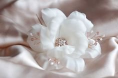 Bridal Hairpiece Rose Gold Hair Accessories by JanaRoyaleDesign