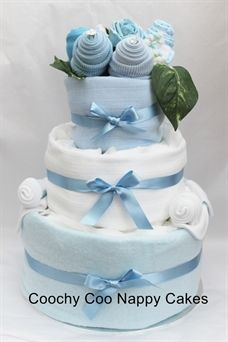 Three tier nappy cake baby gift