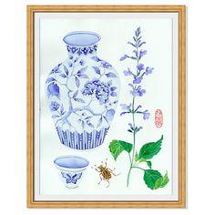 Gabby Malpas, Vase & Salvia $189.00