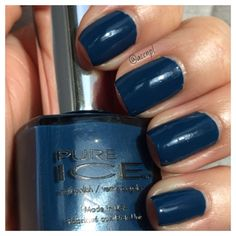 One coat of Pure Ice in Teal Appeal. #PureIce #nailpolish #nail #swatches .  Instagram: accnpl