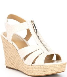 Womens Espadrilles Wedges, Michael Kors Wedges, Cute Wedges, Fashionable Snow Boots, Michael Kors Outlet, Justin Boots, Wedge Sandals, Leather Sandals, Shoes Sandals